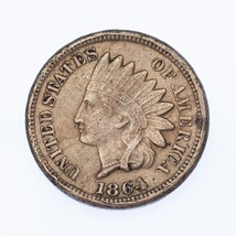 1864 1C Cupro-Nickel Indian Head Cent VF Condition, Scratch on Obverse, ... - $59.39