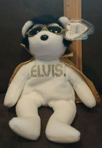 Ty Beanie ~ ELVIS ~ TEDDY BEAR - WHITE with Gold Cape ~ MWMT~ RETIRED ~R... - $19.99