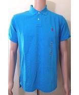 Ralph Lauren da Uomo Blu Polo Maglietta su Misura Taglia Large - $74.34
