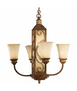 Vintage Parchment Aged Copper Chandelier Light Progress Lighting P4472-122 - $482.79