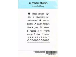 A Muse Artstamps Personal Stationary Clear Stamp Set #3-PSCSM