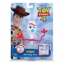 "Disney Pixar Toy Story 4 FORKY 8"" Pull & Go Figure 2019 NEW With Whacky ... - $25.99"
