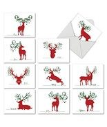 10 Assorted 'Seasonal Silhouettes' Holiday Greeting Cards M2937SGG 4 x 5... - $9.95