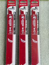 "3 PACKS OF 5 BLADES DIABLO DS0920BF5 9"" x 20/24 TPI Metal Cutting Bi-Metal - $44.50"
