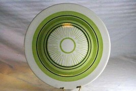 Made In USA Royal China Lime Pattern & Green Black Rings Round Platter - $6.92