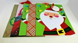 Set Of 5 Christmas Themed Medium Gift Bags Different Designs/Colors - $14.87