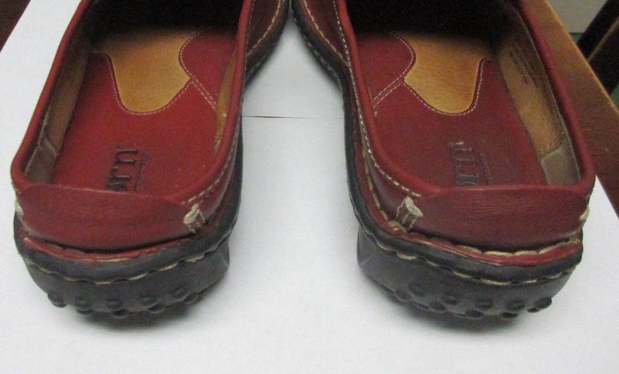 Born Vintage Red Leather Clogs Loafers Flats 8M/W 8