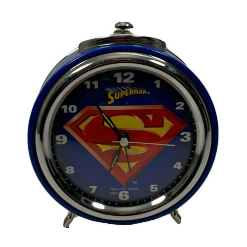 Primary image for Superman Alarm Clock Desktop DC Comics Blue Works
