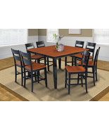 """54"""" SQUARE COUNTER HEIGHT TABLE DINING ROOM SET IN BLACK & CHERRY - $699.91+"""