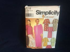Simplicity Sewing Pattern Women's ROBE BED JACKET 7018 Wrights M-L-XL UNCUT - $2.92