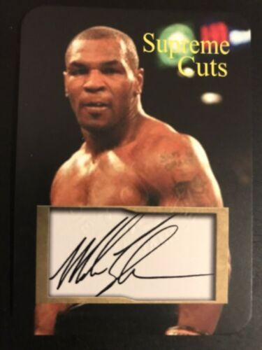 Primary image for MIKE TYSON - Supreme Cuts - Die Cut - Facsimile Autograph AUTO - Boxing Champion