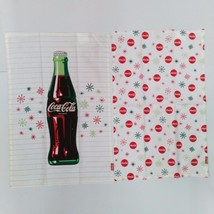 Coca-Cola Snowflakes & Bottle Dishtowels (2 Pack) - BRAND NEW - $18.76