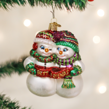 OLD WORLD CHRISTMAS BEST FRIENDS SNOWMAN GLASS CHRISTMAS ORNAMENT 24008 - $15.88