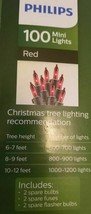 Philips 100ct Incandescent Mini String Lights Red Wedding Christmas Valentine's image 2