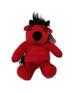 Kelly Toy BeanPals Plush Bull Devil Kuddle Me Toys Red and Black Stuffed... - $12.26