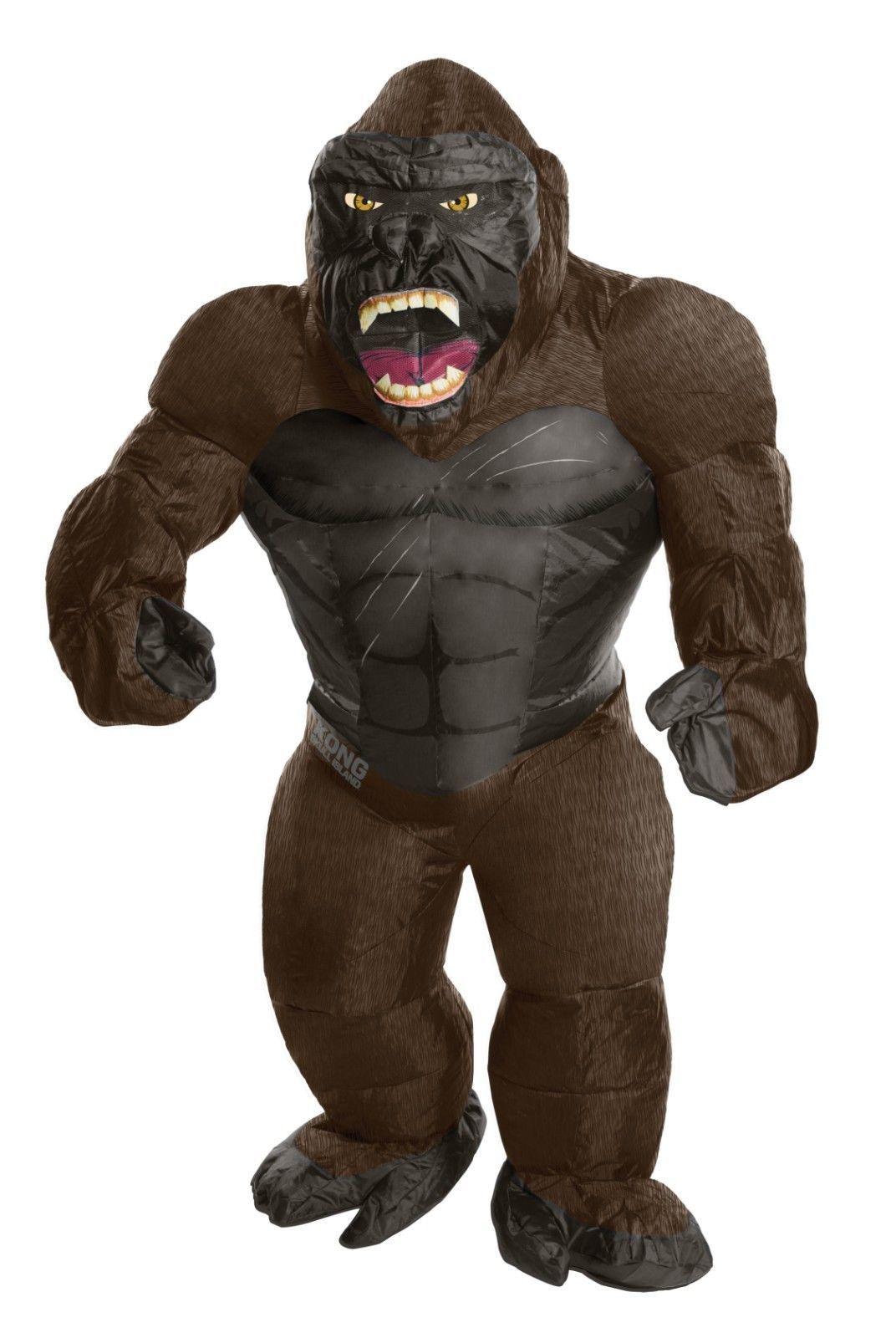 Rubies King Kong Hinchable Gigante Gorila Animal Adulto Disfraz Halloween 820584