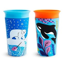 Munchkin Miracle 360 WildLove Sippy Cup, 9 Ounce, 2 Pack, Polar Bear/Orca - $17.52