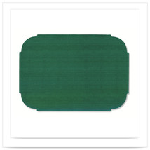 9 3/4 x 14 Hunter Green Decorator Placemats/Case of 1000 - $192.20