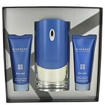 Givenchy Blue Label Cologne 3.3 Oz Eau De Toilette Spray 3 Pcs Gift Set image 4
