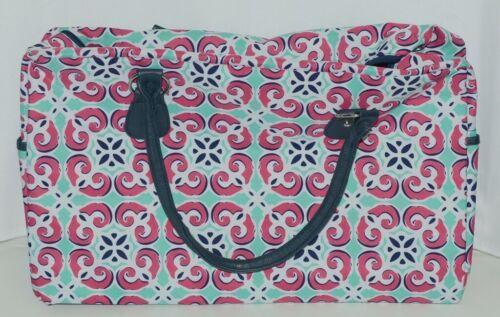 Viv Lou M440VLMIA Mia Tile Travel Bag Lime Green Pink and Navy Blue