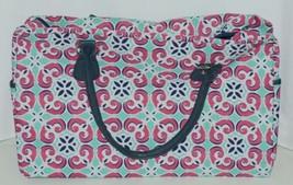Viv Lou M440VLMIA Mia Tile Travel Bag Lime Green Pink and Navy Blue image 1