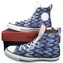 Converse by Missoni Chuck Taylor All Star High Top Glitter BLUE/GREEN 15... - $50.00
