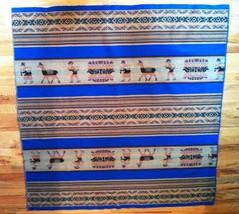 Manta Peru Woven Sling Baby Carrier Blanket Blue Llama Native Cloth Fabr... - $44.54