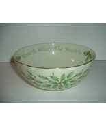 Lenox Holly Home Is Where the Heart Is Bowl - $29.99