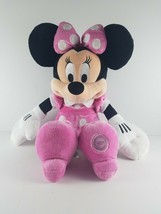 "Disney Minnie Mouse Plush 18"" Pink Polka Dot Bow & Dress Disney Store Pl... - $19.99"