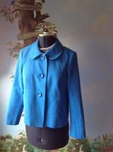 Talbots Petite Blazer Blue Long Sleeve Suit Jacket  Size 12 - $27.71