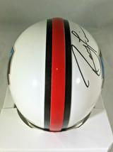 RAY LEWIS / NFL HALL OF FAME / AUTOGRAPHED HALL OF FAME LOGO MINI HELMET / COA image 5
