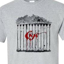 Cujo T-shirt retro 1980s classic horror movie Stephen King gray graphic tee image 1