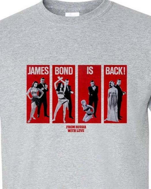 007 James Bond Girls t-shirt Sean Connery From Russia with Love 60s graphic tee