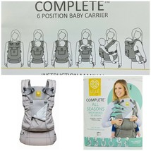 LILLE Baby Complete All Seasons 6 Positions Baby Carrier Stone Grey Bran... - $68.35