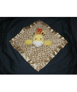 Garanimals Giraffe Security Blanket Brown Yellow Tan White Print Lovey - $19.79