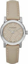 Burberry BU9207 The City Beige Swiss Made Leather Womens Watch - $179.55