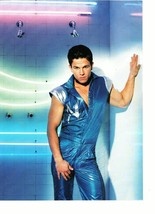 Marky Mark Wahlberg magazine pinup clipping tight blue pants suit hottie