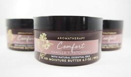 (3) Bath & Body Works Aromatherapy Comfort Vanilla + Patchouli 24Hr Butt... - $26.46