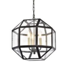 Visual Comfort STYLE Morris Glass & Bronze Pendant Chandelier Lantern - $138.49