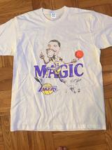 Los Angeles Lakers Vintage tshirt 1980s Magic Johnson t-shirt gildan rep... - $24.99+