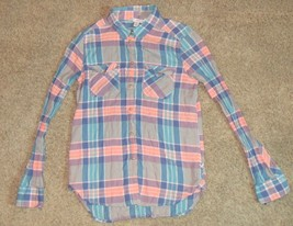 American Eagle Outfitters Plaid Top Shirt Size XS X-Small - $13.99