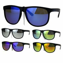 Kush Mens Reflective Mirror Lens Rectangular Horned Sunglasses - $9.95