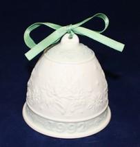 "LLADRO 1992 Porcelain Christmas Bell with Green Ribbon ""Daisa"" Hallmarked - $9.90"