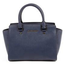 Dark Blue ONE SIZE Michael Kors Womens Handbag SELMA 30S3GLMS2L NAVY - $176.90