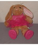 Build A Bear Ballerina Bunny Rabbit Pink Tutu Shoes Floppy Ears Brown Pl... - $18.80