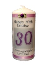 Candle Personalised 30th Birthday Special Occasion Keepsake | Cellini Ca... - $18.29