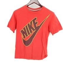 Nike Shirt Mens Medium Regular Fit Short Sleeve Swoosh 100% Cotton Red - $26.72