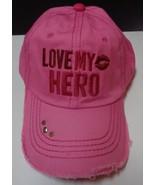 Love My Hero Pink Baseball Hat NWT Homefront Military Adjustable Gaby Ju... - $12.99