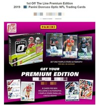 2019 Panini Donruss Optic Premium Edition Football Hobby Box First Off t... - $199.99