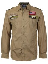 Men's US Military American Long Sleeve Button Up Camo Casual Dress Shirt image 5